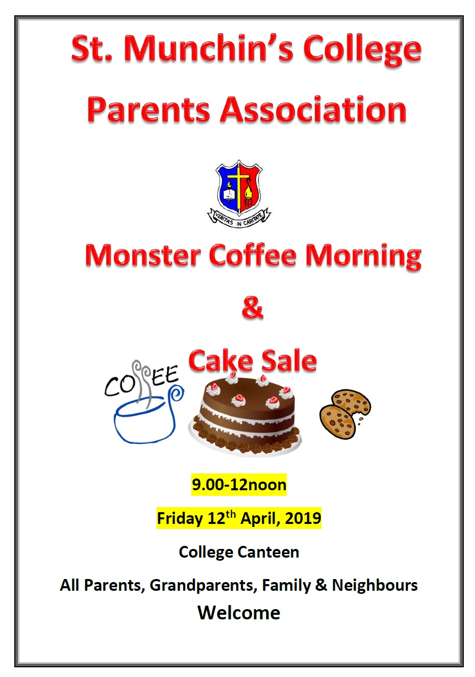 Coffee Morning Poster- Parents Assoc